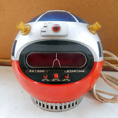 Timco Ex-200 Startime Vintage Sveglia Made In Hong Kong Robot Space Age