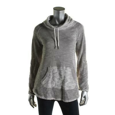 Calvin Klein Performance 4876 Womens Gray Knit Space Dye Sweatshirt Top M BHFO