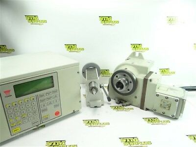 Nice! Yuasa 5C Cnc Rotary Servo Indexing Fixture With Controller & Tailstock