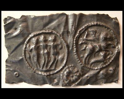 """PCW-AN321-ROMAN EMPIRE.Ca 2nd Century AD. Silver Placque of """"The Three Graces"""""""