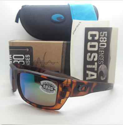 8664d3e440 Costa Del Mar Rafael Sunglasses Retro Tortoise green 580G Glass Rfl66 Ogmglp