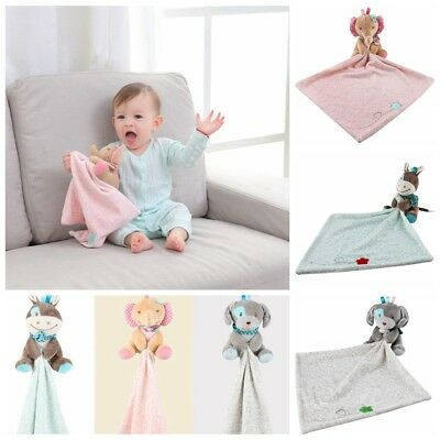 Security Blanket Infant Appease Towel Play Animal Doll Baby Toddler Comforter