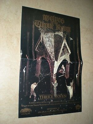 POSTER by WOLVES IN THE THRONE ROOM black metal promo THRICE WOVEN for the cd