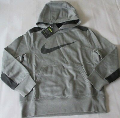 Nike KO Logo Polyester Hoodie - Boy's Youth Size Small 8, Black/Charcoal NWT