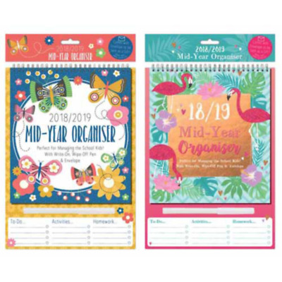 2018 2019 A4 Academic Planner, Academic Calendar With Write-on,Wipe off pen