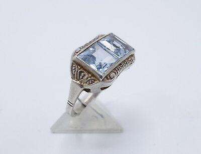 Art Deco 835 Silber Damen Ring Gr. 54 HS