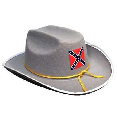 Confederate Officer Hat Federal Army Grey Civil War Adult Costume Accessory