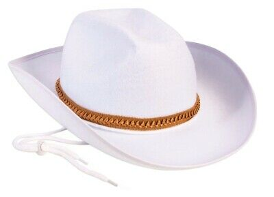 1dea9d3b87f Western Sheriff Cowboy Cowgirl White Felt Hat Adult Costume Accessory NEW
