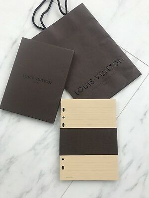 Authentic Louis Vuitton Large Ring Agenda Note Refill Inserts