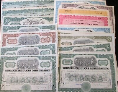 Batch Of 50 1920S Stock Certificates, Tobacco And Misc