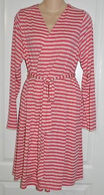 Womens BUMP IN THE NIGHT Maternity Striped Robe XL
