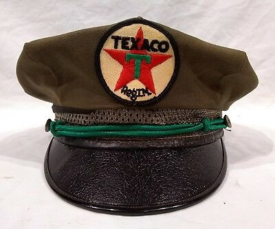 Vintage 1940's Texaco Gas Station Attendant Hat Cap Uniform Service Oil Sign Old
