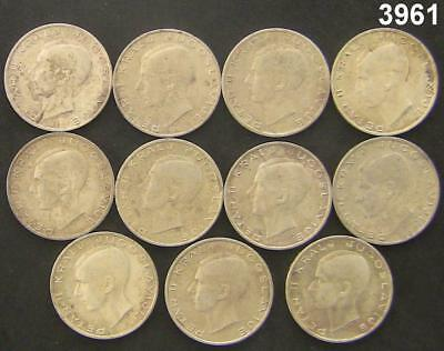 Yugoslavia 20 Dinara 1938 Silver Eagle Lot Of 11 Coins All Au/bu #3961