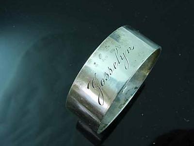 Old Newbury Crafters Sterling Silver Napkin Ring With Name Josselyn