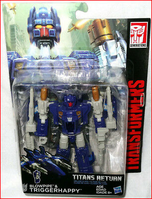 Transformers TITANS RETURN DELUXE Class BLOWPIPE & TriggerHappy Autobots 🌟New🌟
