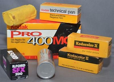 11 Rolls Expired 120 Film – Color and Black and White