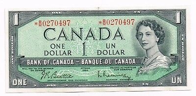 1954 (1961-71) CANADA ONE DOLLAR REPLACEMENT NOTE - p75b