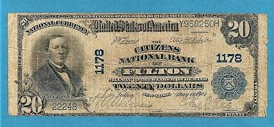 1902 $ 10 Charter #1178 Citizens National Bank of Fulton New York