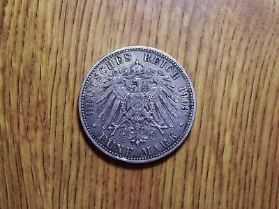 German State Prussia 5 Mark 1903 A Silver Coin (31)