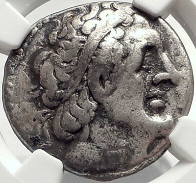 PTOLEMY II Philadelphos Ancient Silver Tetradrachm Greek Coin w EAGLE NGC i68767
