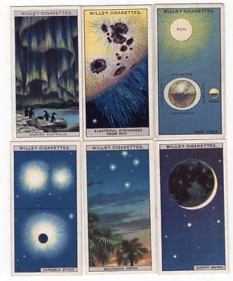 6 Antique Astronomy Cards from 1928 Variable Stars Aurora Australis Neap Tides +