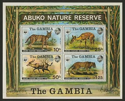 Gambia 344a MNH Abuko Reserve, Leopard, Antelope