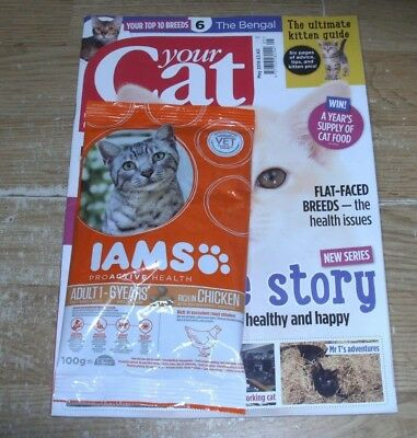Your Cat magazine MAY 2018 Flat-Faced Breeds, Ultimate Kitten Guide, Bengal+Iams