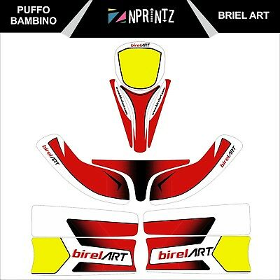 Puffo Bambino  Birel Art Style Full Kart Sticker Kit - Karting -Cadet-Rookie