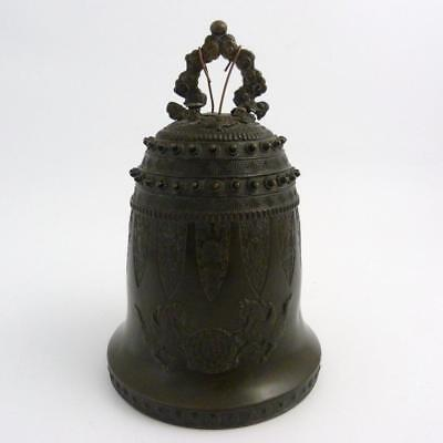 Chinese Bronze Temple Bell, Seal Mark To The Top, Ming Dynasty