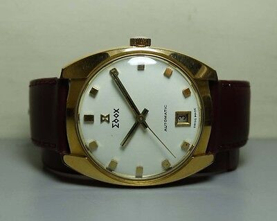 Vintage Edox Automatic Date Swiss Mens Wrist Watch H570 Old Used Antique Superb