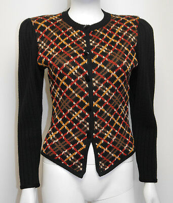 YVES SAINT LAURENT Vintage 1970er Strickjacke Sweater Cardigan 1970s YSL 34/XS