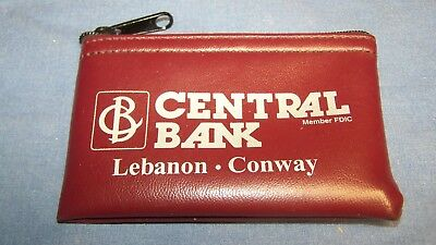 Central Bank Lebanon Conway Missouri Small Zippered Coin Purse
