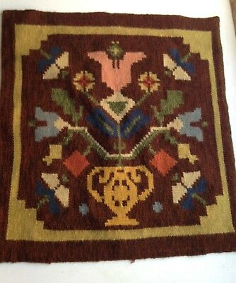 Antique Swedish Handwoven Wool Tapestry from Skåne