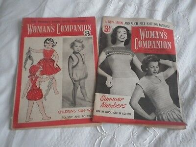 2 COPIES of WOMAN'S  Companion from 1950's