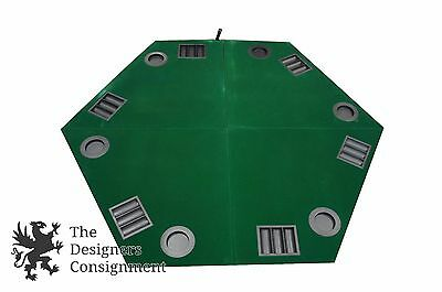 Travel Folding Texas Holdem 6 Player Game Poker Card Table With Carrying Case