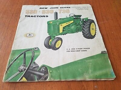 John Deere Tractors Models 530 630 730 Brochure Original A1065-58-8-Waterloo