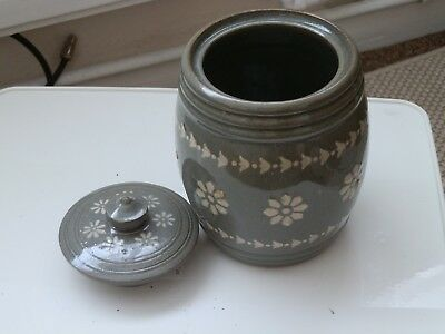 Vintage Royal Doulton Art Nouveau Tobacco / Storage Jar - Floral Patterb