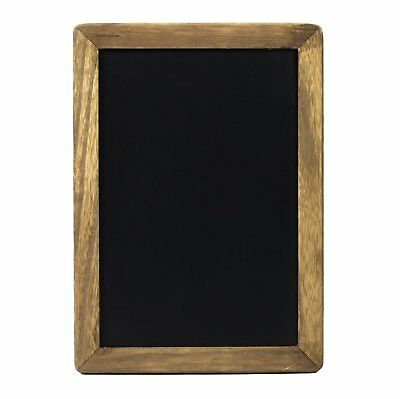 """Magnetic Kitchen Chalkboard Menu Sign 10x14"""" with Rustic Frame and Non Porous"""