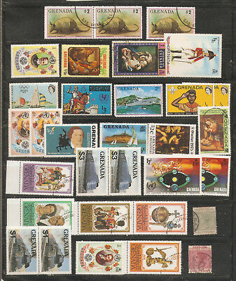 a stock page of used and MH stamps from Grenada,some duplication.