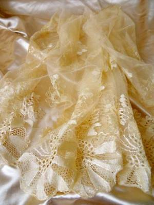 An Exquisite Antique Victorian Silk Wedding Shawl C.1860