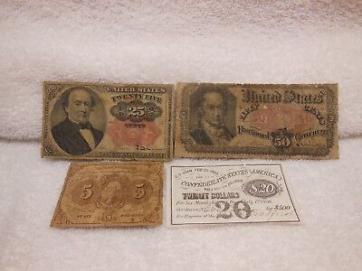 4-Fractional/ Confederate Currency Notes