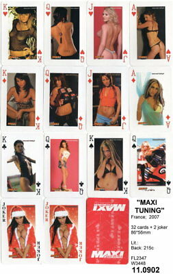 Spielkarten playing cards Pin-Up adult Nude Erotic Sexy erotik France E 11.902