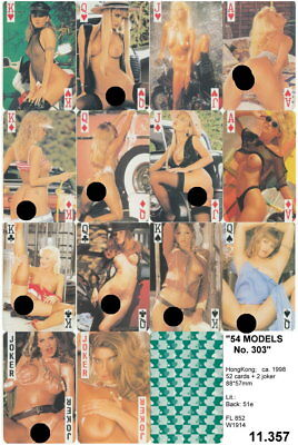 Spielkarten playing cards Pin-Up adult Nude Erotic Sexy erotik HK 1998 11.357