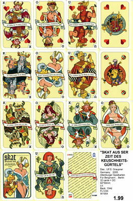 Spielkarten playing cards Pin-Up adult Nude Erotic Sexy erotik Germany  E1.99