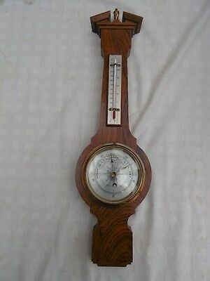 Vintage Onorato Comitti Banjo Aneroid Compensated Wall Barometer & Thermometer