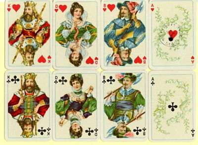 Spielkarten playing cards jeu de cartes Sonderbild Altenburg um 1937 Wallenstein
