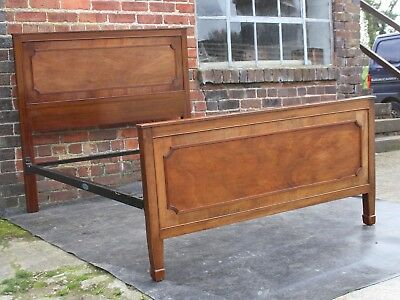 Top quality Edwardian flame mahogany standard double bed 1910
