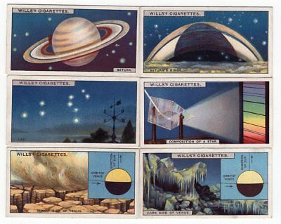 6 Antique Astronomy Cards from 1928 SATURN Dark Side of VENUS Leo Comp. of Star