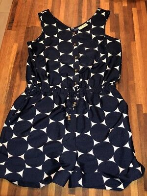 NEXT Girls Navy Geo Circle Print Playsuit Age 9 EXCELLENT CONDITION
