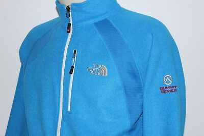 THE NORTH FACE SUMMIT SERIES Women Blue Zipped Fleece Jacket, Size M